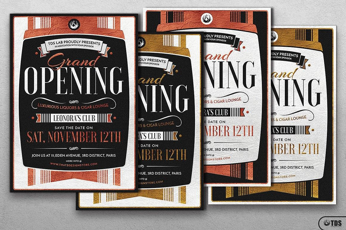 Grand Opening Flyer Template | Flyer template, Grand opening and ...