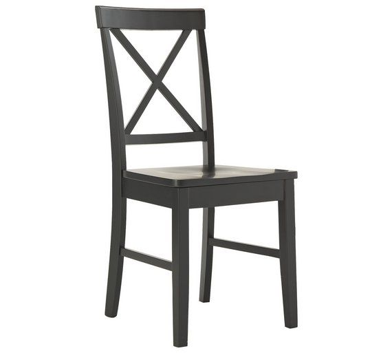 Buy HOME Pair Of Black Cross Back Chairs At Argos.co.uk, Visit