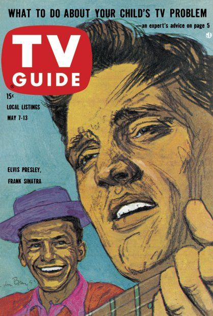 TV Guide: May 7, 1960 - Elvis Presley and Frank Sinatra