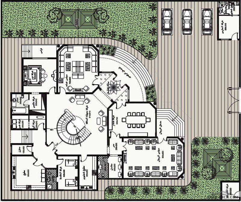 مخطط الفيلا رقم التصميم S2 من مبادرة بيتى 843 متر مربع Square House Plans Home Design Floor Plans House Outside Design