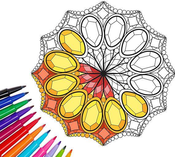 Mandala coloring,coloring art therapy,mandala coloring ...