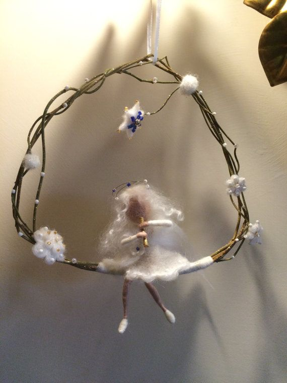 Winter White Flower Fairy Wand