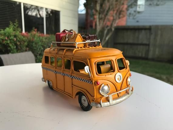 Vintage VW 6.5 inches Yellow Camper Van Volkswagen