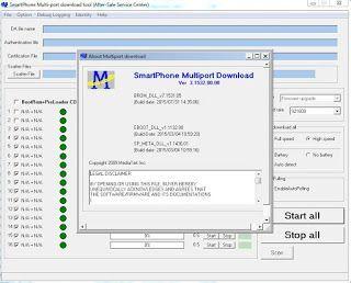 Multi Port Download Tool MTK Smart Phones Flashing Software