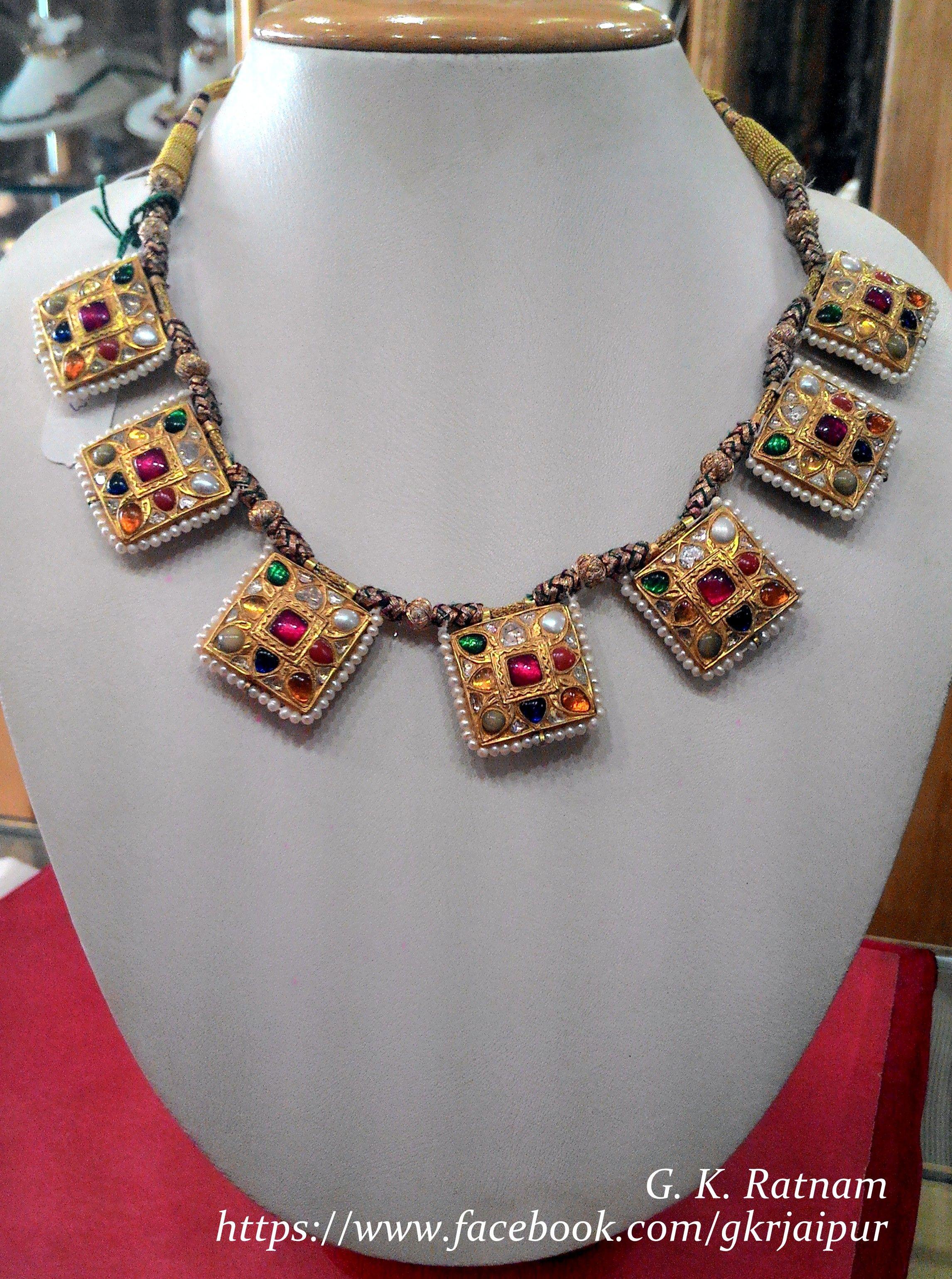 Navratan Katla Hyderabadi Jewelry Royal Indian