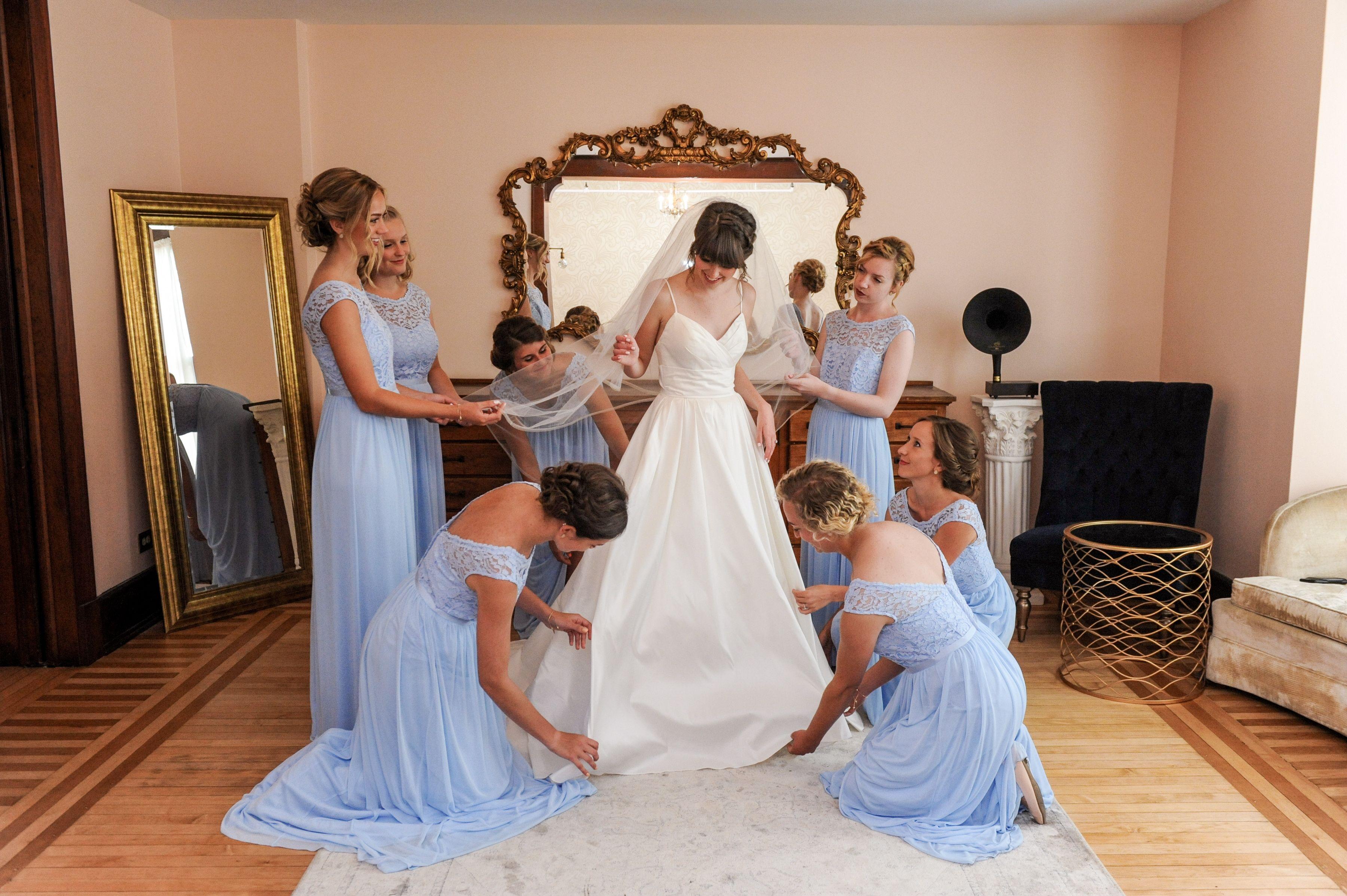Ice Blue Bridesmaid Dresses David S Bridal Lace And Cap Sleeves