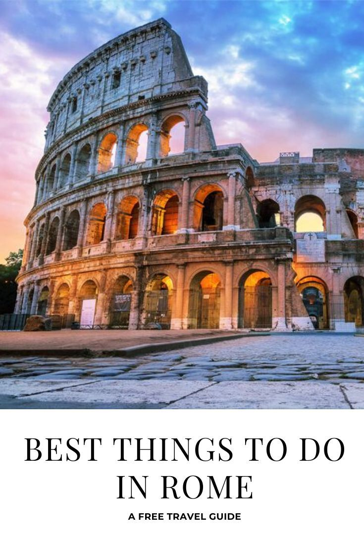 *A free Rome travel guide! Things you should do in see ...