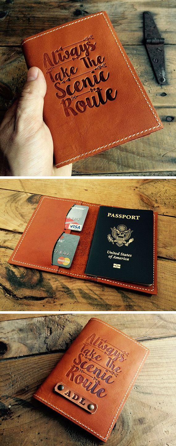 3e445d9c233 No matter where you go. No matter where you go Diy Leather Passport Holder  ...