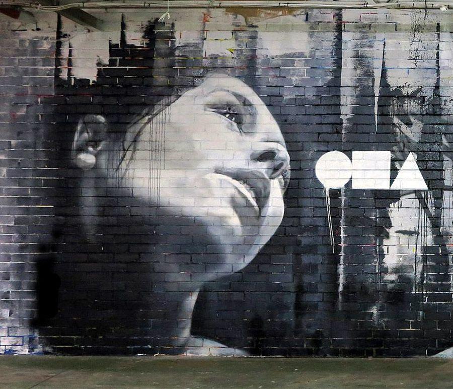 Adnate #stencil. #adnate http://www.widewalls.ch/artist/adnate/