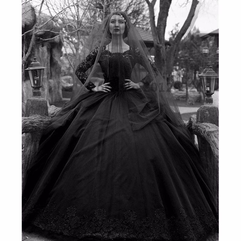 Cheap Gothic Wedding Quality Black Dresses