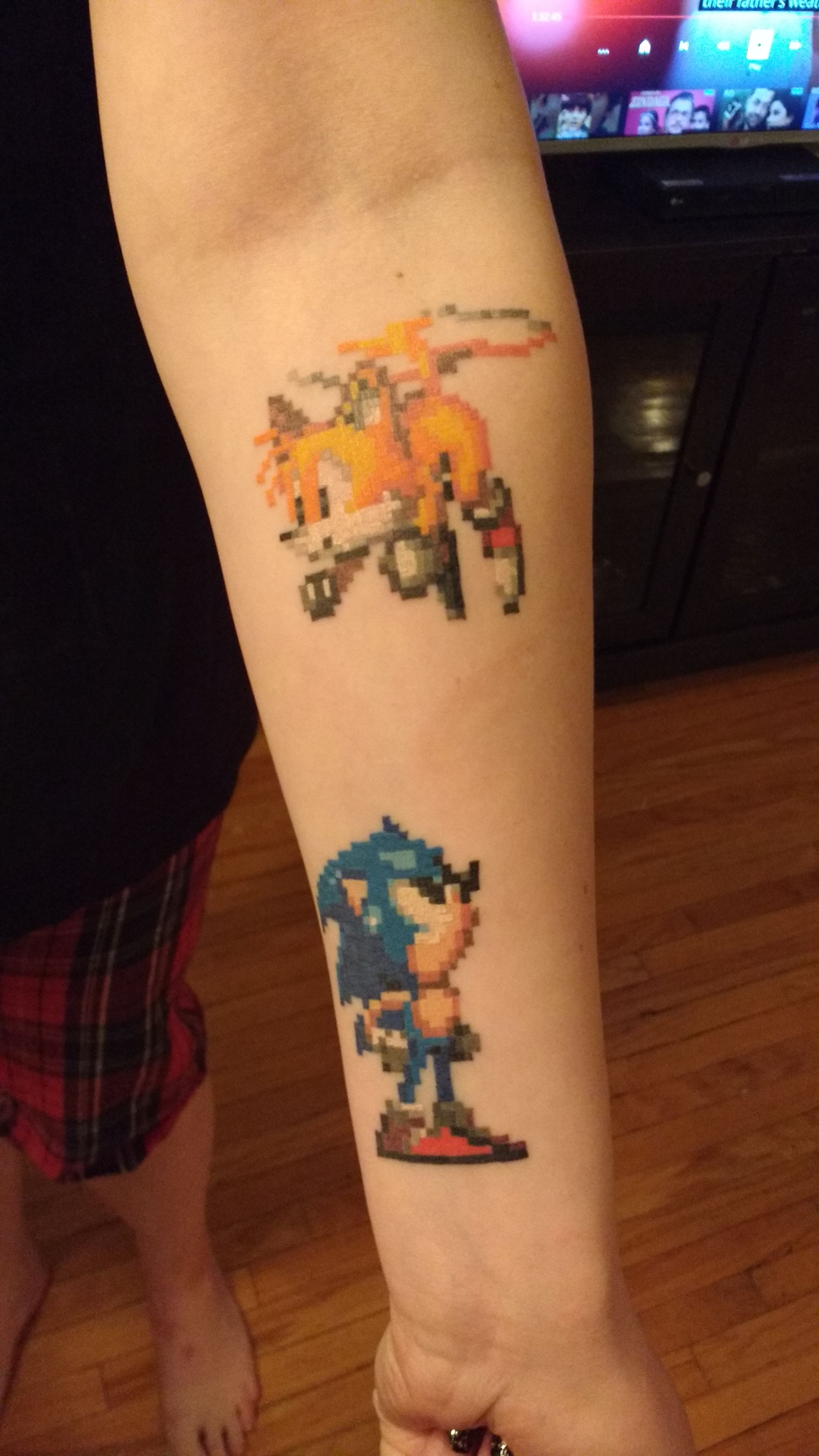 16bit Sonic tattoos Nerdy tattoos, Gaming tattoo, Gamer