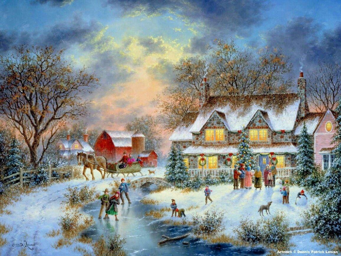 новогодние картинки американских художников то, что это