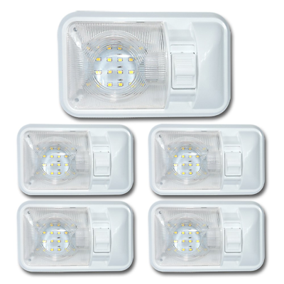 Sponsored Ebay 5 Pack 12 Volt Led Dome Light Ceiling Fixture Interior Rv Trailer Camper Marine Dome Lighting Ceiling Domes Rv Interior