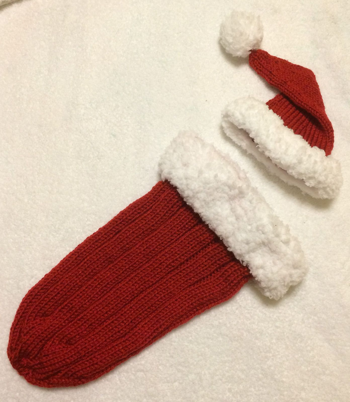 Free Knitting Pattern for Santa Baby Cocoon - This holiday set ...