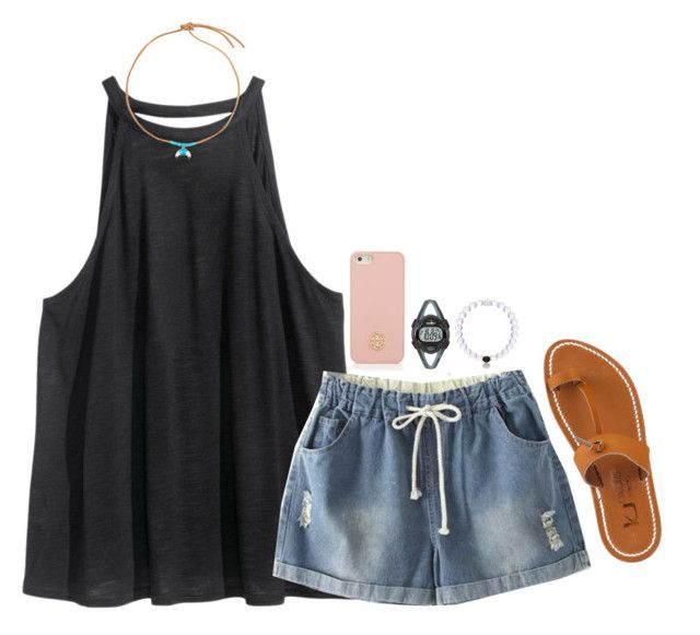 """""""{Read d} I have a weird question!"""" by lillynelsonn ❤ liked on Polyvore featuring H&M, WithChic, Aurélie Bidermann, Timex, K. Jacques and Tory Burch"""