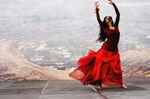 96ed46412ef0 dance in red | lovely,dancing,red,dress,woman,reaching,dance ...
