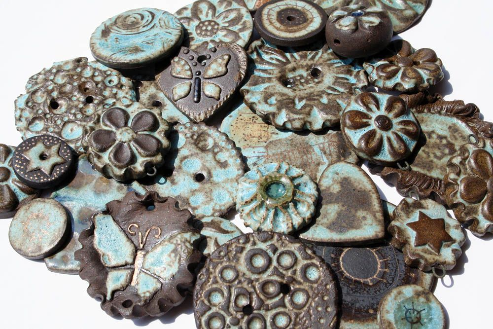 Assorted Stoneware Beads by Lisa Peters