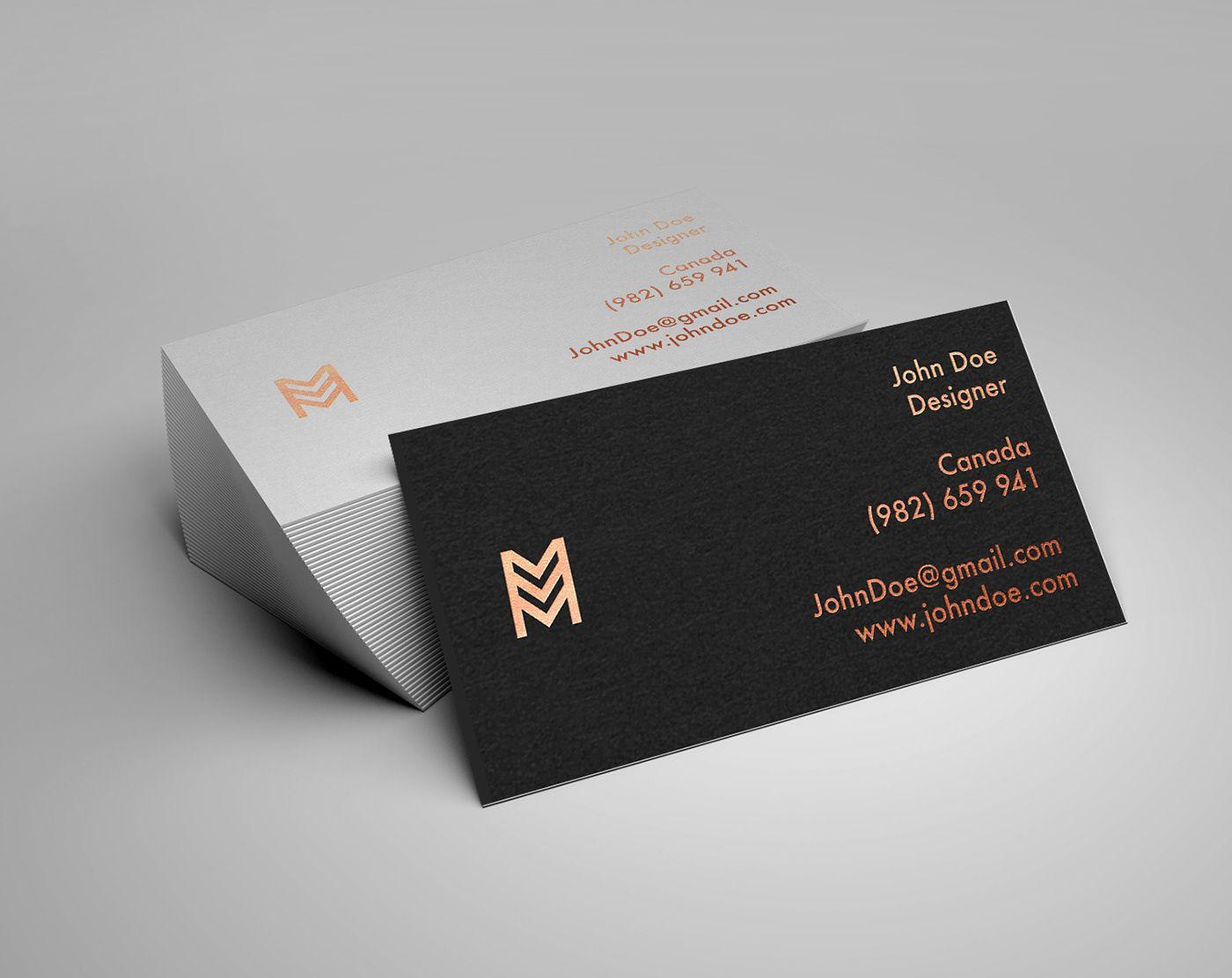 Business card mockup behance