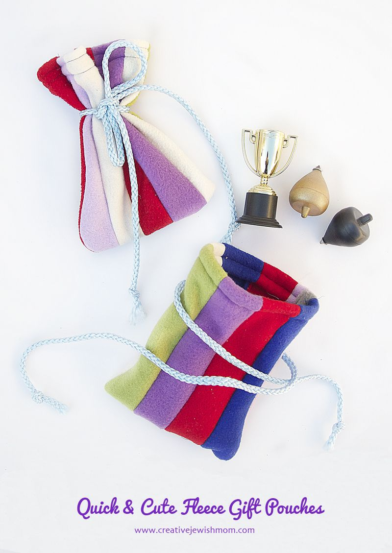 Diy patchwork fleece gift pouches fleece projects pinterest
