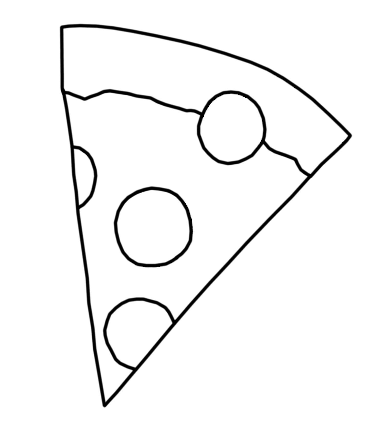 Coloring Page Pizza Slice By Blackcatstitchcrafts On Etsy With