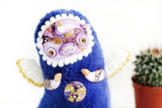 Unicorn toy cute fantasy art doll unicorn kawaii toy fantasy animal polymer clay toy figurine... Un