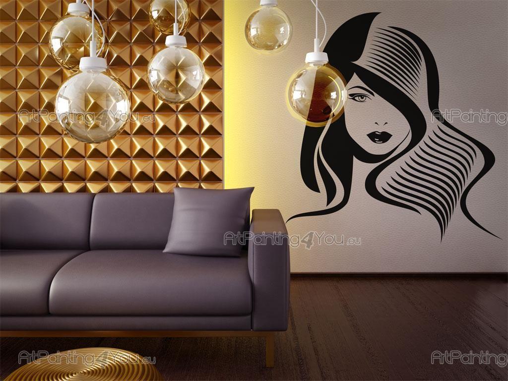 27+ Stickers muraux salon de coiffure chambre a coucher idees en 2021