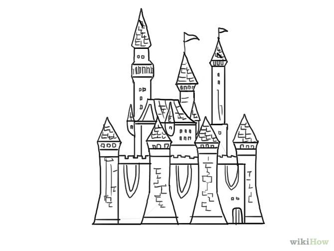 how to draw castles easy google search