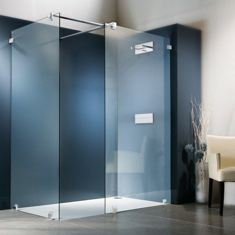 gemauerte dusche als blickfang im badezimmer vor und nachteile duschkabinen aus glas. Black Bedroom Furniture Sets. Home Design Ideas