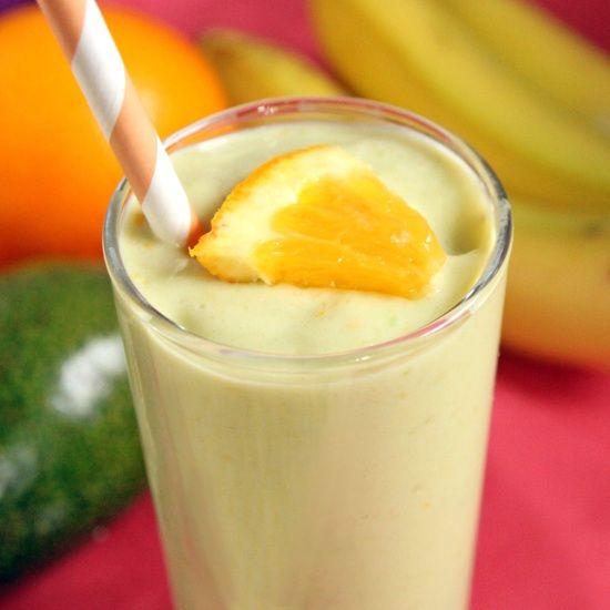 Banana Orange Avocado Smoothie | texanerin.com