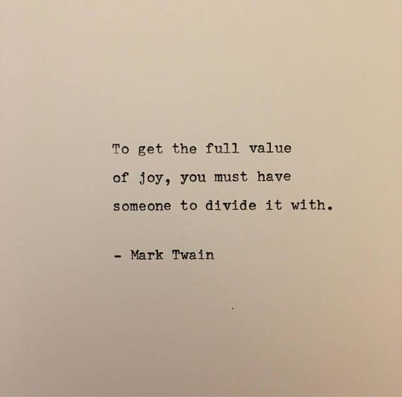 Mark Twain quote typed on typewriter - unique gift
