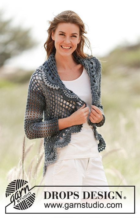 Crochet Evening Tide Women\'s Sweater Jacket with Circle Design on ...
