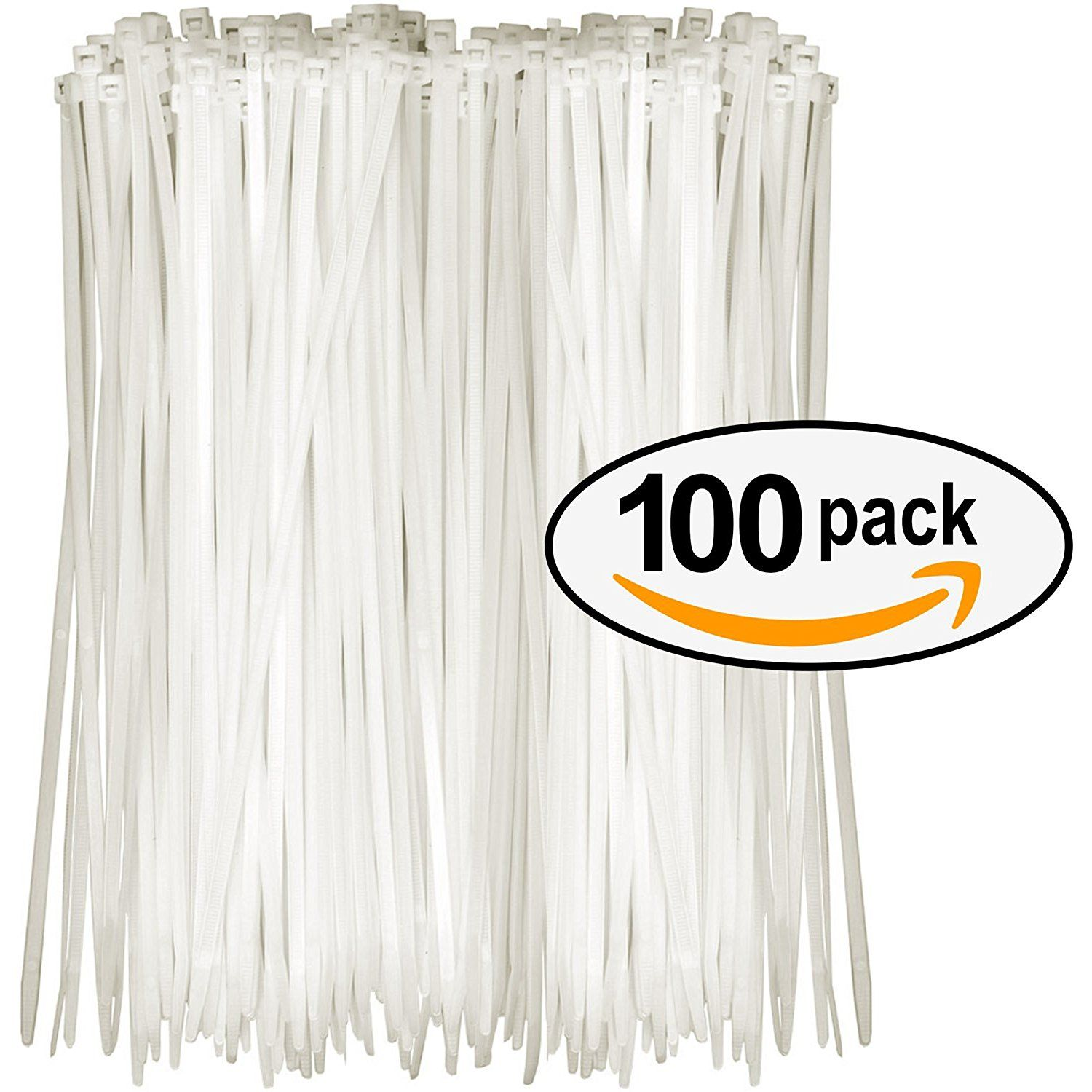 Tarvol Nylon Zip Ties (Pack of 100) 8 Inch with Self Locking Cable ...