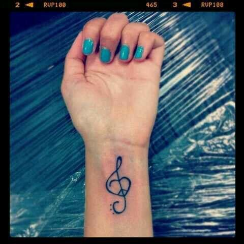 Clave De Sol Corazon Y Paz Tatuaje Corazon Tatuajes Corazones