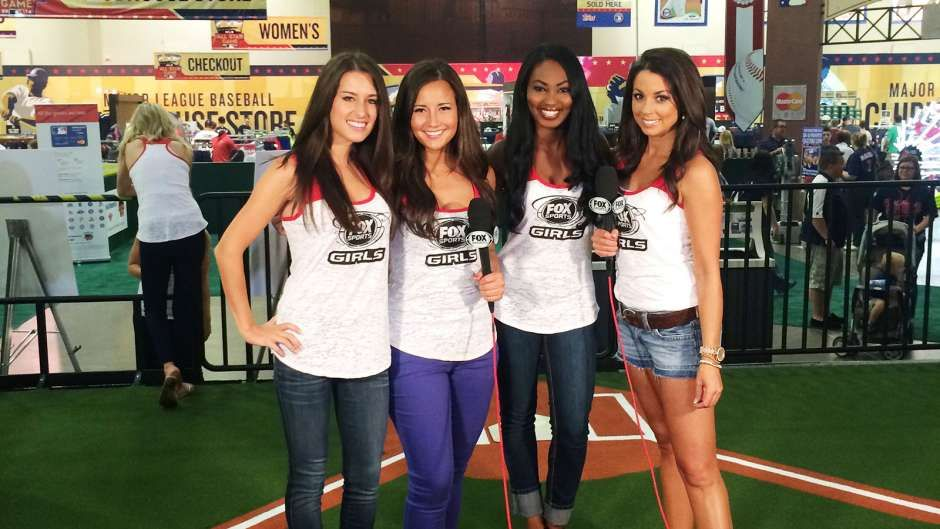 The FOX Sports North Girls at the 2014 MLB AllStar Game