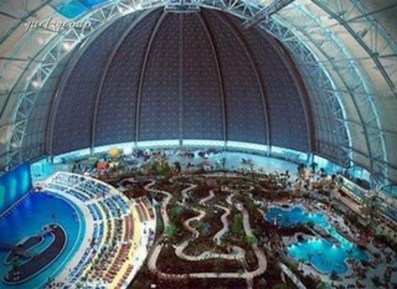 The Biggest Attraction In Europe Tropical Islands In Berlin The Book Of Travel Tropical Islands Resort Tropical Islands Paradise Water Park