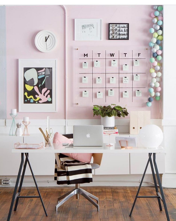 Office Inspiration Boss Acrylic Frame Wall Calendar Highland Hardware Oh Hy Day Pink Walls Decor Home