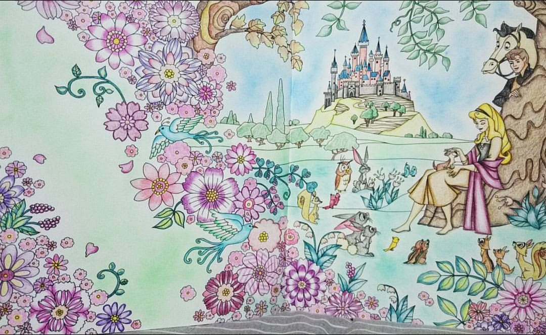 旅するディズニー塗り絵 眠れる森の美女 ストーカー王子 オーロラ姫