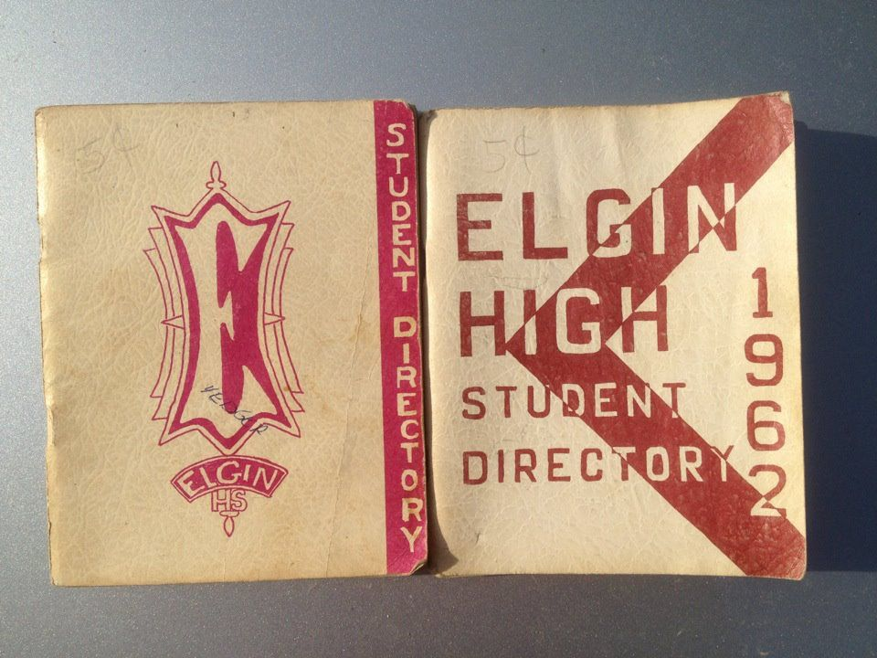 two EHS Student Directories from 1961 and 1962 Student