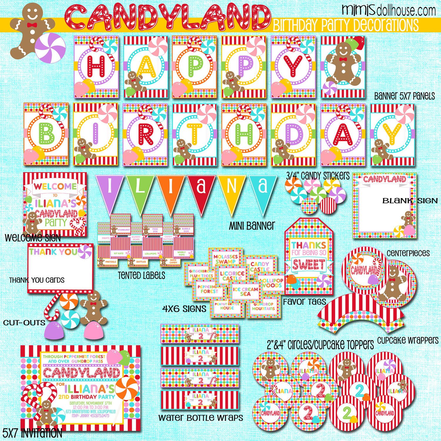 Pin On Candyland Birthday