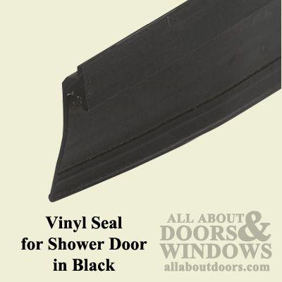 """7/8"""" Vinyl Seal for Shower Door in Black - $2.50"""