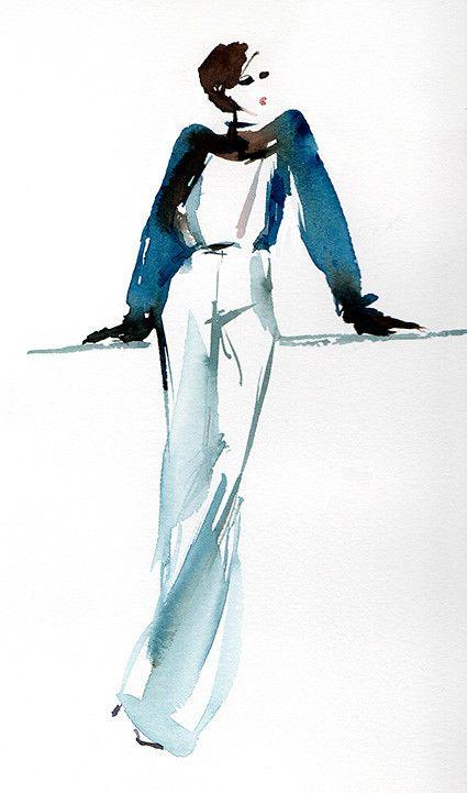 Mode Style I Illustration De Mode Mode Aquarelle Dessin