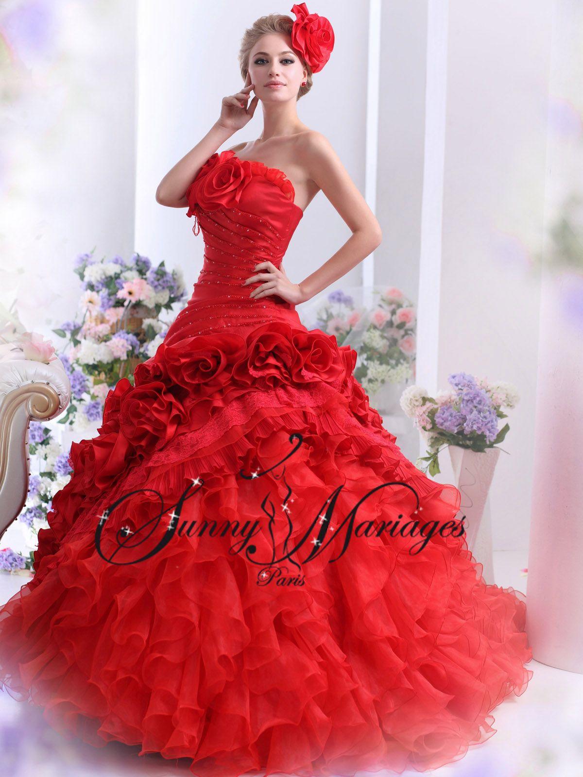 robes de mari e couleur rouge noir ivoire blanche sur mesure sunny mariage robe de cramignon. Black Bedroom Furniture Sets. Home Design Ideas