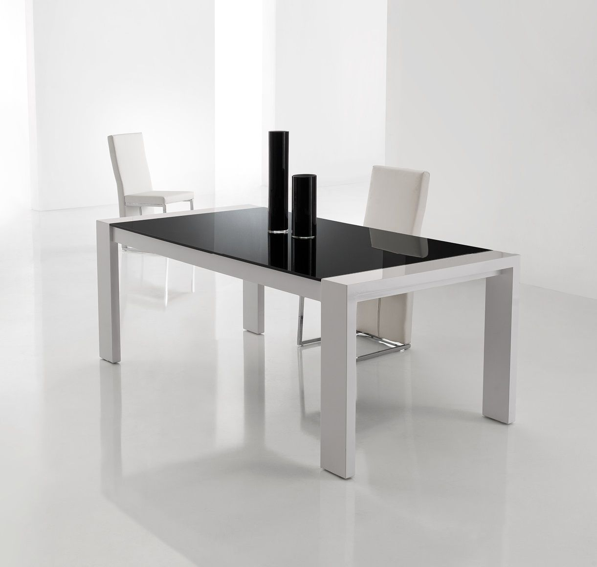 Milano Dining Table 2000 X 1000 High Gloss White Finish On The