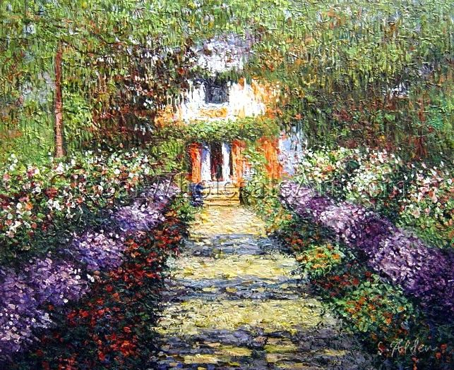 A Pathway in Monet\u0027s Garden at Giverny\