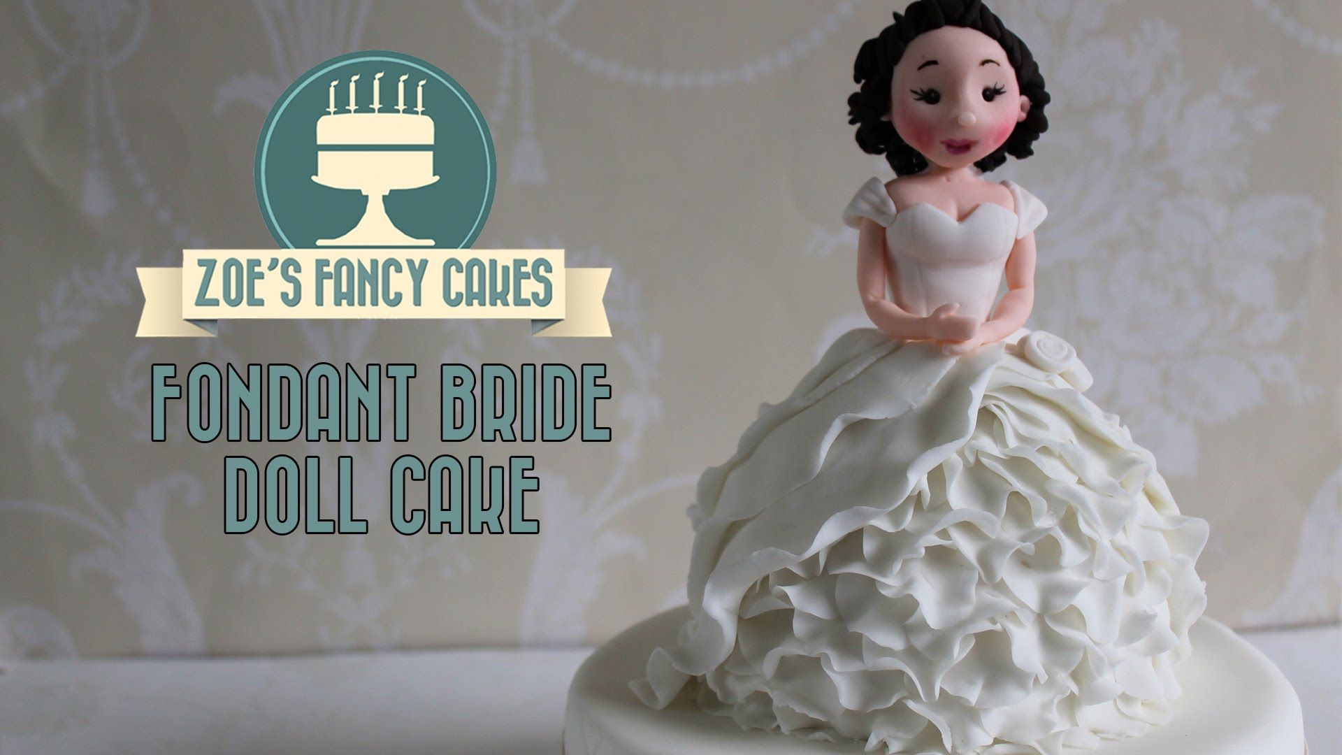 How to make a fondant bride doll cake or cupcake How To Cake Tutorial