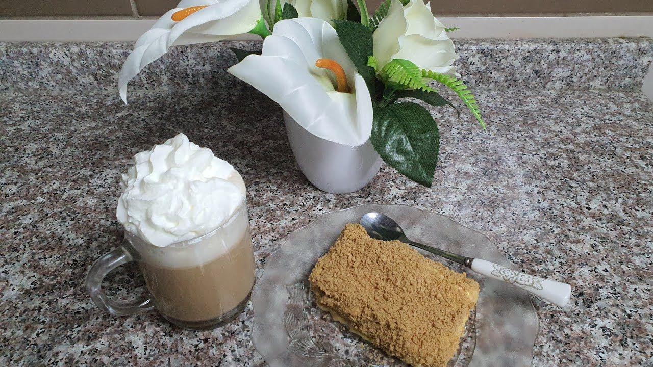 طريقة كيكة اللاتيه الباردة كيكة المشاهير Cold Latte Cake Celebrities Cake Food Desserts Pudding