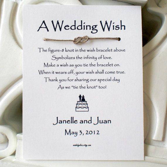 Phrases For Wedding Invitations: Infinity Love Knot WISH BRACELET Wedding Favor