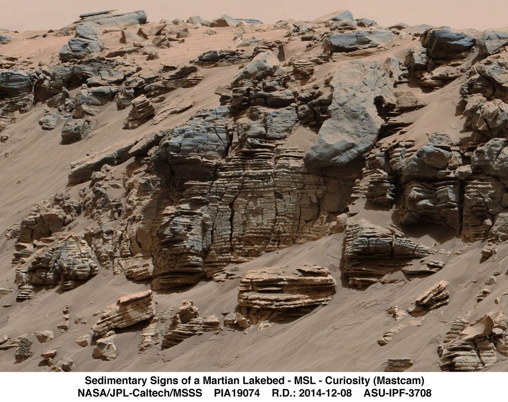 Sedimentary Signs of a Martian Lakebed   Flickr - Photo Sharing!