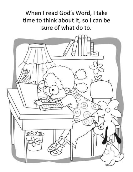 Psalm 119 Coloring Page Sunday School Activities