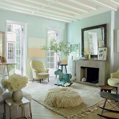 Sea Foam Green Walls New Living Room Color Love It Stylish